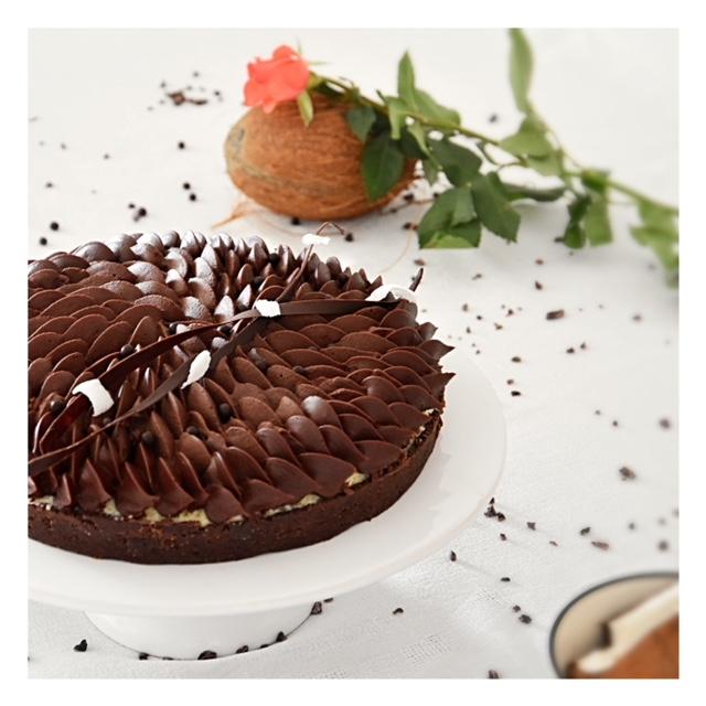 Tarte chocolat & noix de coco