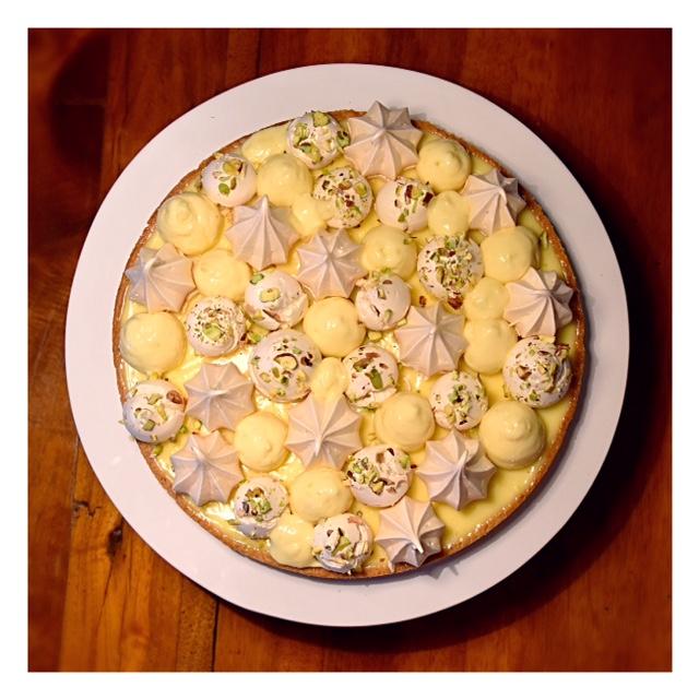 Tarte citron & pistache