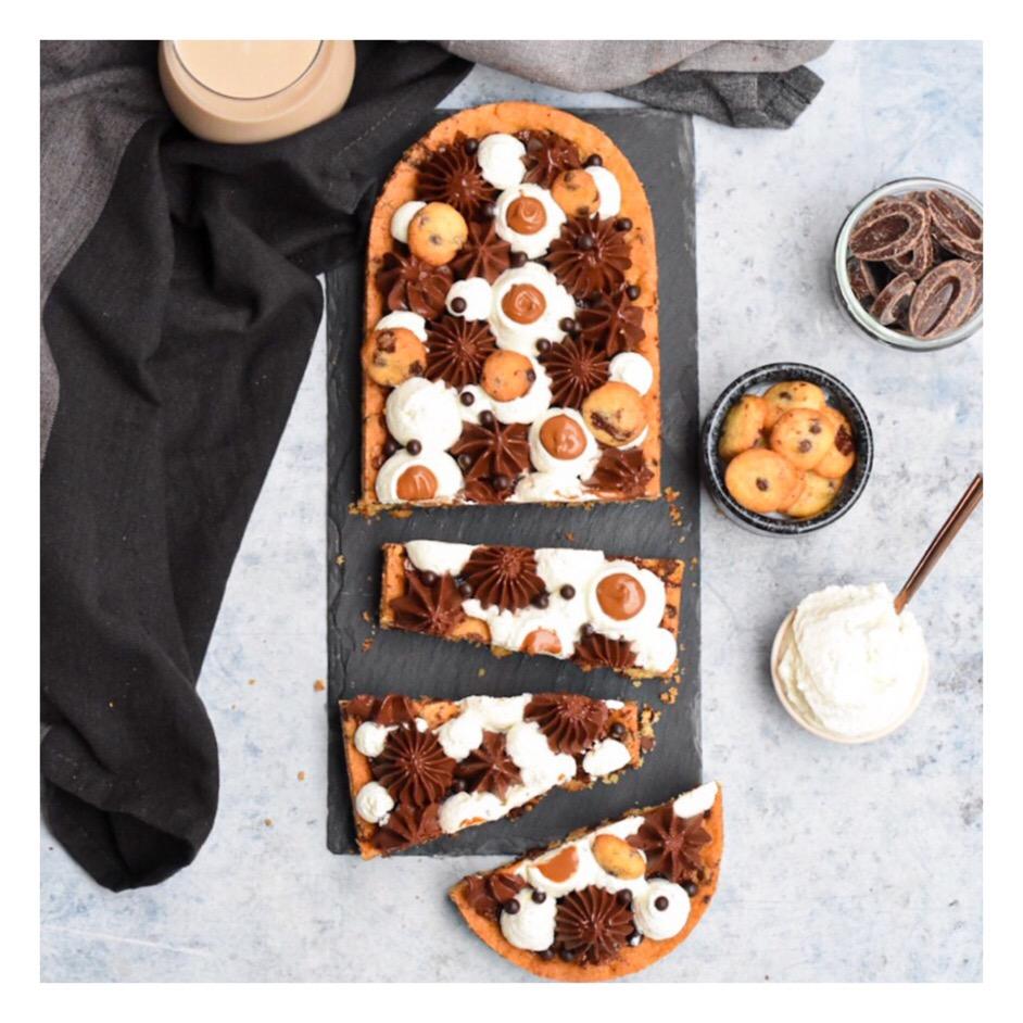 Tarte cookie, chocolat & vanille