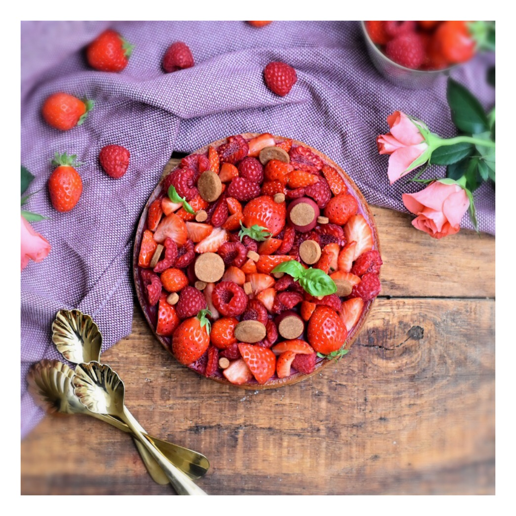 Tarte fraises & framboises