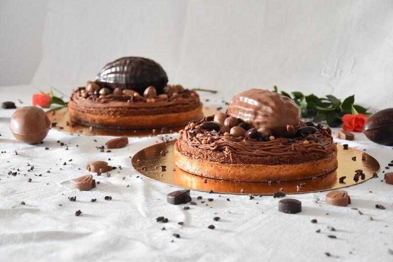 Tarte Mogador (chocolat & fruit de la passion)