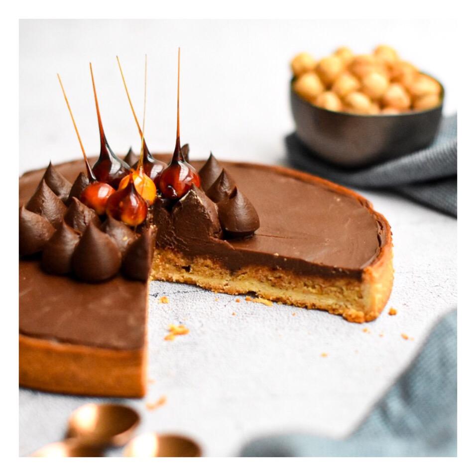 Tarte piémontaise (chocolat & noisette)