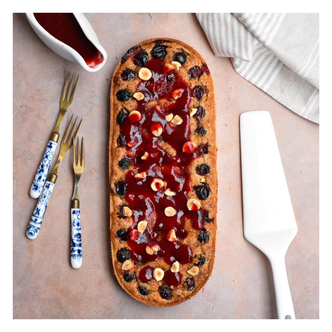 Tarte prune & noisette