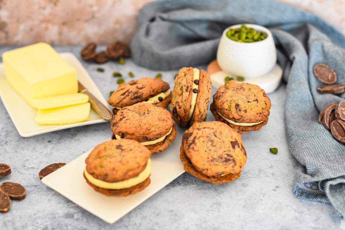 cookies sandwiches choco pistache 17