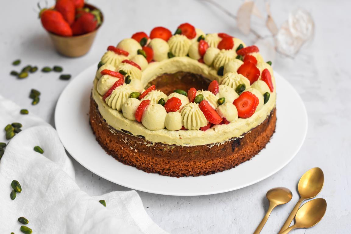 gateau pistache fraise 17