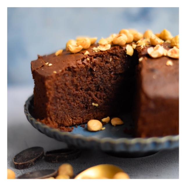 Moelleux chocolat & noisette sans gluten
