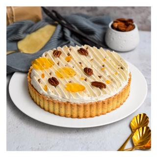 Tarte vanille, noix de pécan & crème brûlée