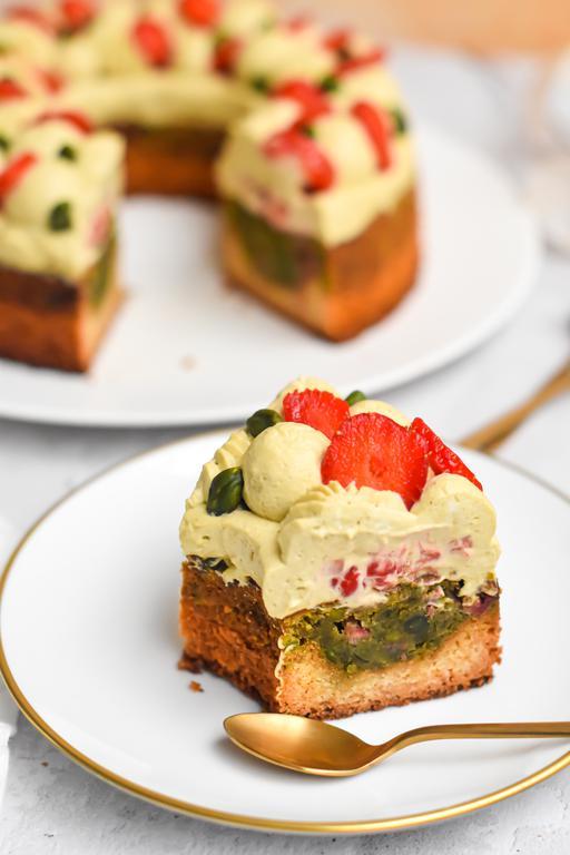 gateau pistache fraise 23