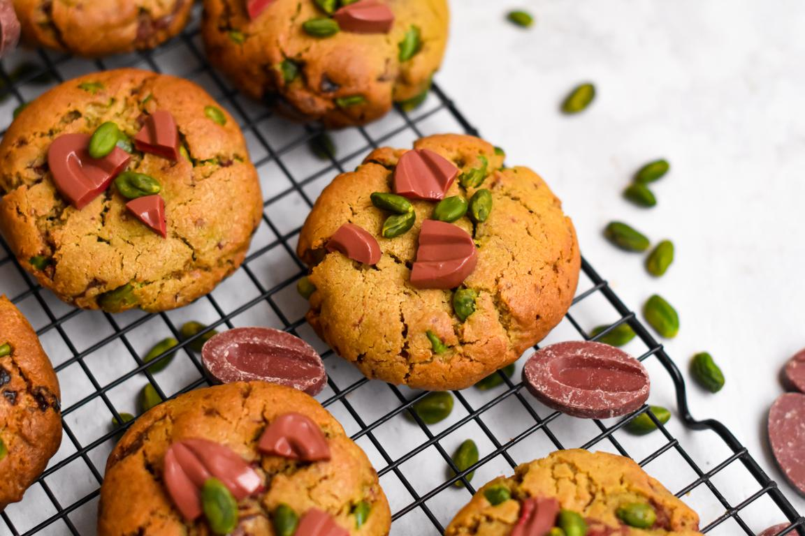 Cookies pistache & framboise
